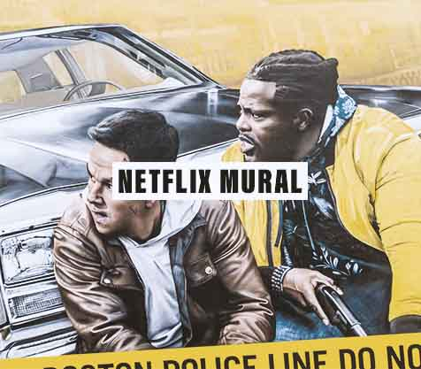 Netflix Spencer Confidential Mural werbefilm | MILLION MOTIONS - Videoproduktion Berlin Kreuzberg Neukölln